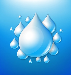 Water drops poster vector