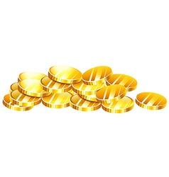 Pile of golden coins vector