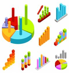 Statistic charts vector