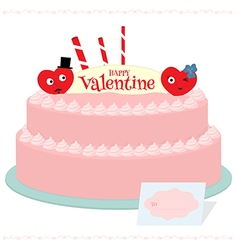 Happy valentine cake vector