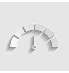 Speedometer sign paper style icon vector