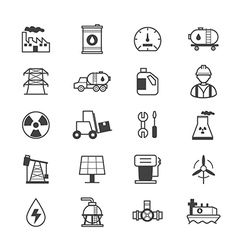 Oil and Industy Icons Line vector image