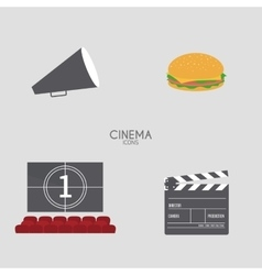 Abstract cinema objects vector
