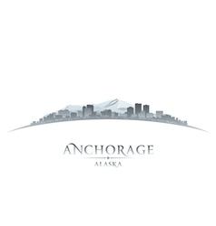 Anchorage Alaska city skyline silhouette vector image