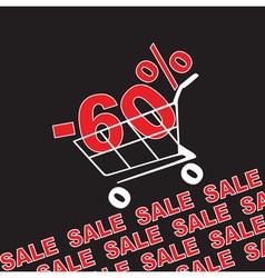 Big sale 60 percentage discount vector