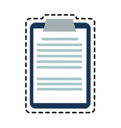 Clipboard with paper icon image vector
