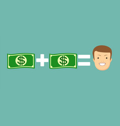 concept of money make you happy vector image vector image