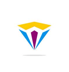 diamond shape abstract logo vector image