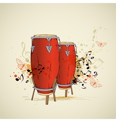 drums background vector image vector image