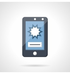 Flat icon for shooting video with phone vector