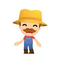 Funny cartoon farmer vector