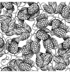 Hop seamless patternblack hand drawn vector