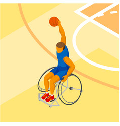 isometirc physically disabled basketball player vector image