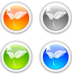 Leaves buttons vector