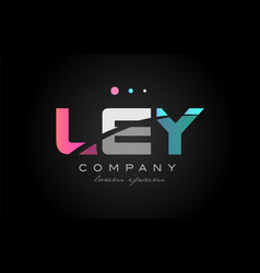 ley l e y three letter logo icon design vector image vector image