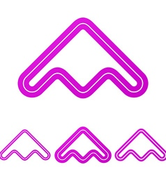 Magenta line product logo design set vector image