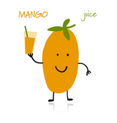 mango cute character for your design vector image