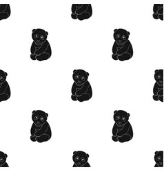 Pandaanimals single icon in black style vector