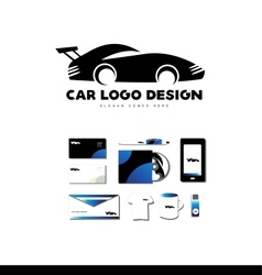Race car logo icon design vector image vector image