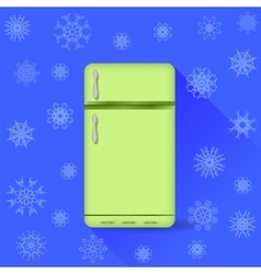 Refrigerator icon vector