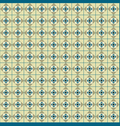 Seamless geometric with squares between the lines vector
