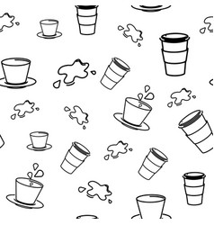 seamless pattern with coffee cup vector image vector image