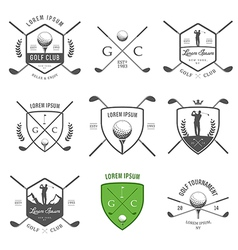 Set of vintage golf labels and badges vector image vector image