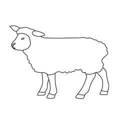 sheep icon in outline style isolated on white vector image vector image