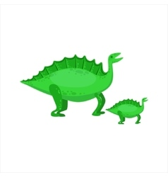 Stegosaurus Dinosaur Prehistoric Monster Couple Of vector image vector image