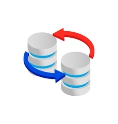 Sync database icon isometric 3d style vector image