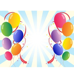 Twelve colorful party balloons vector image vector image