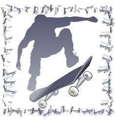vector skateboarder frame vector image vector image
