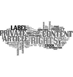 What s so great about private label rights text vector