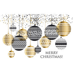 Xmas bauble ball decoration seamless pattern vector