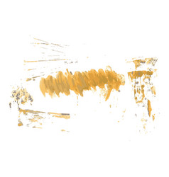 Yellow watercolor hand painted brush grunge paper vector