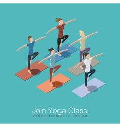 Yoga class scene vector