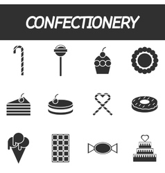 Confectionery icon set vector