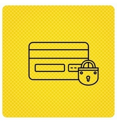 Blocked credit card icon shopping sign vector