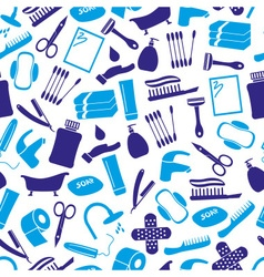 Hygiene theme modern simple blue icons seamless vector