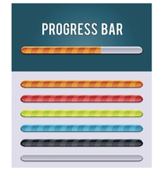 Gloving progress bar vector