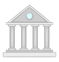 Museum building icon icon cartoon style vector