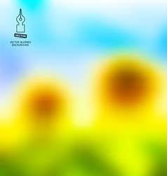 Blurred sunflowers and blue sky abstract summer vector