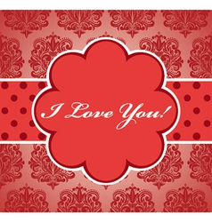 Valentine vintage background vector