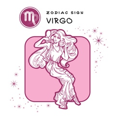 Virgo astrology sign vector