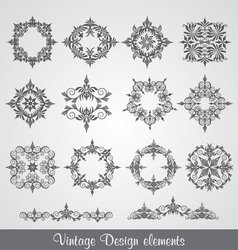 Vintage elements of design vector