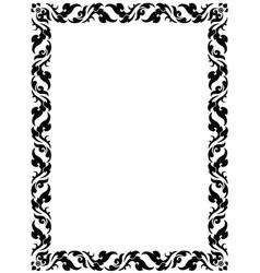 Thai pattern frame vector