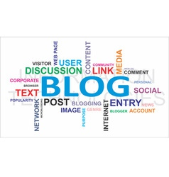 word cloud blog vector image