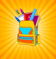 Full backpack vector