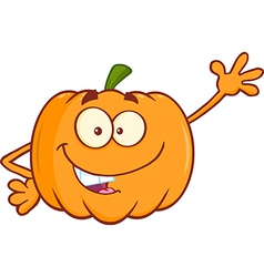 Cartoon pumpkin vector image
