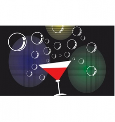 goblet and bubbles vector image